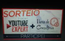 Sorteio Curso Youtube Expert participe